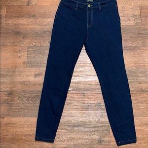 Forever 21+ Dark Wash High Waist Skinny Jeans